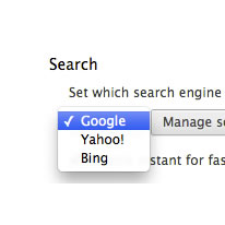 search settings select google screenshot