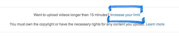 Mengupload video berdurasi lebih dari 15 menit
