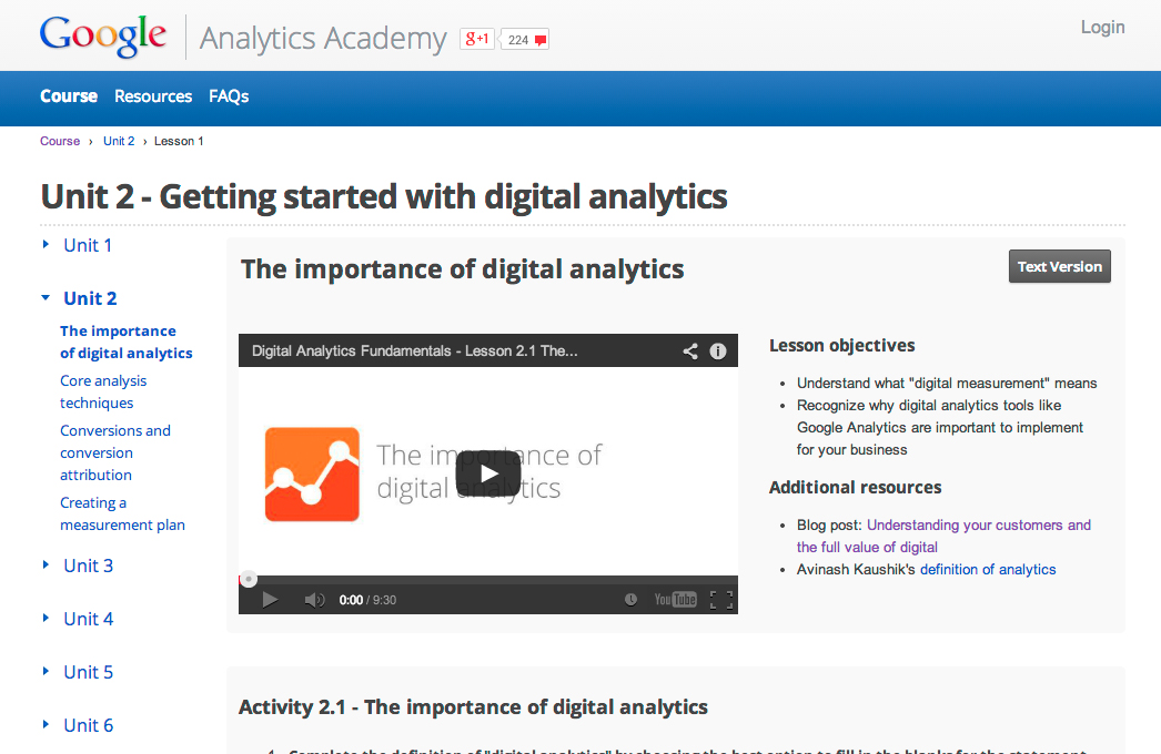 Google Analytics Academy Certification Answers - mandegar.info