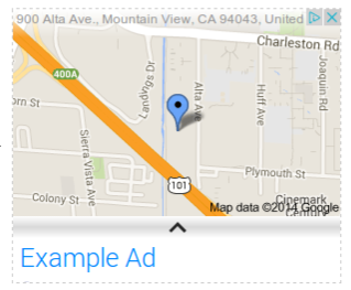 A location extension ad on the Google Display Network (expanded)
