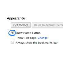 search settings appearance section screenshot