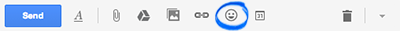 Gmail Compose Insert emoticon screenshot