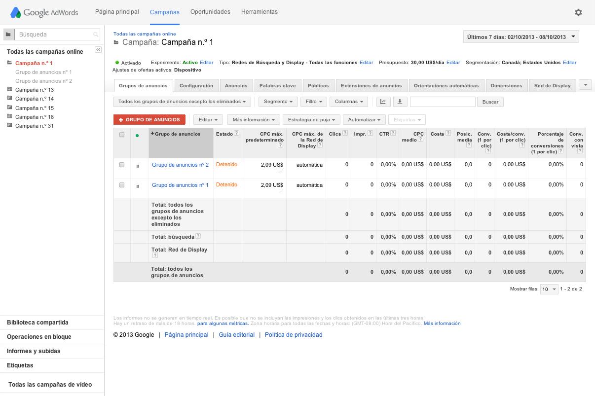 Contemporáneo Reanudar Google Adwords Foto - Ejemplo De Colección De ...
