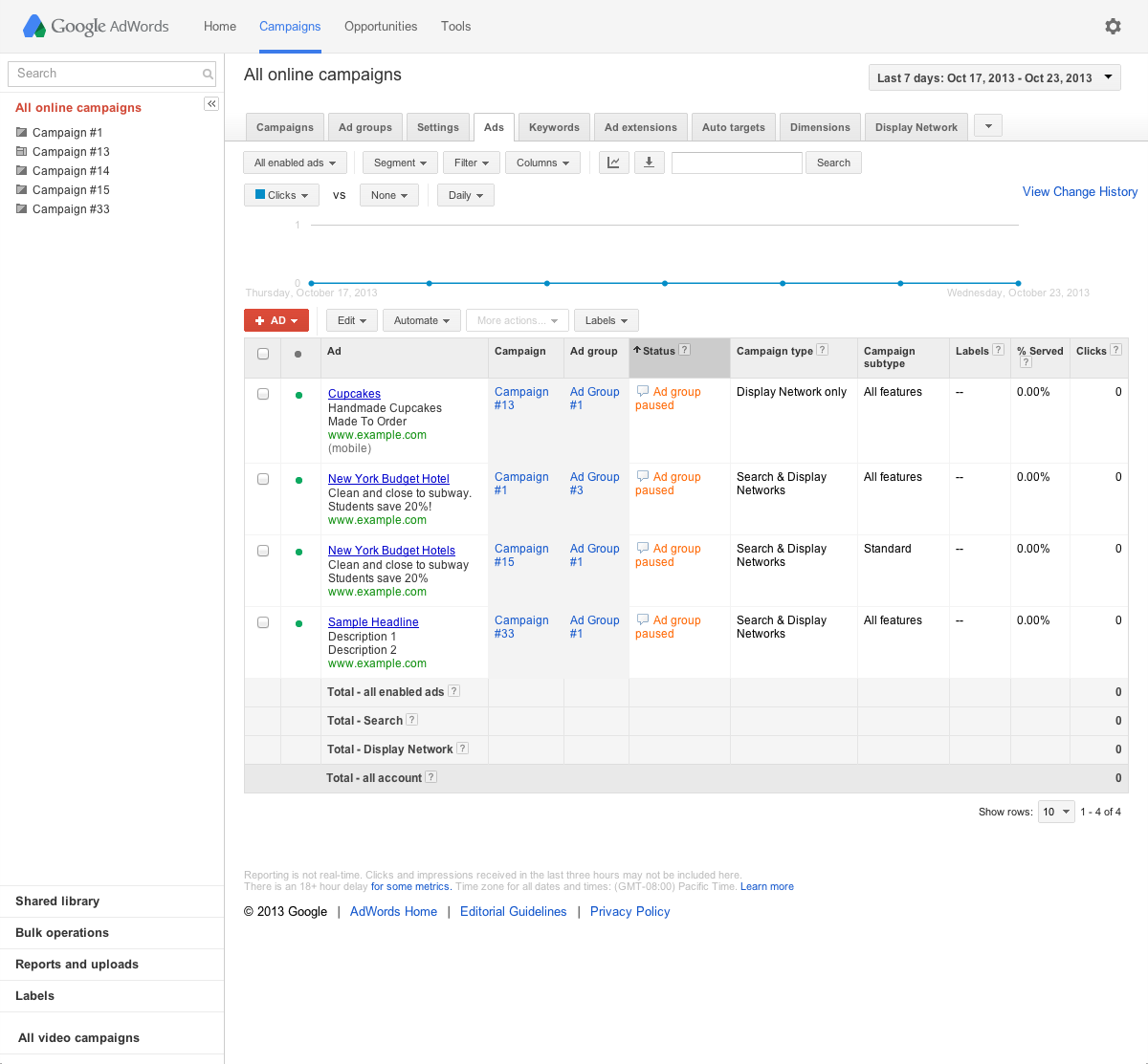 Monitor your ads and keywords - Previous - Google Ads Help
