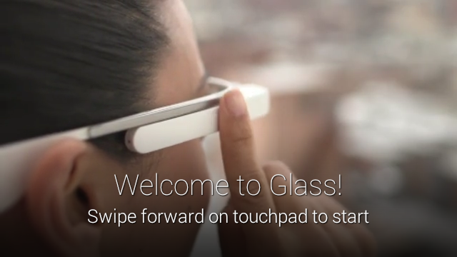 New welcome screen in Glass out-of-box experience