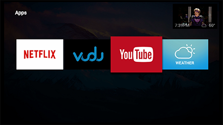 Launch YouTube app on Google Fiber TV
