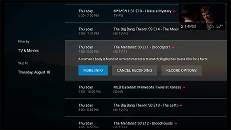 Schedule series recording on Fiber TV