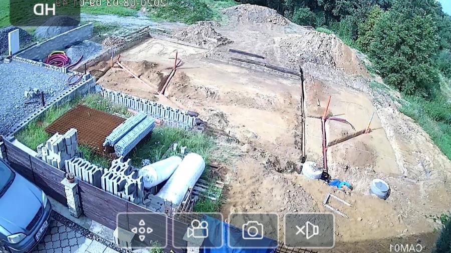 kanalizace a příprava podkladu pro pěnové sklo