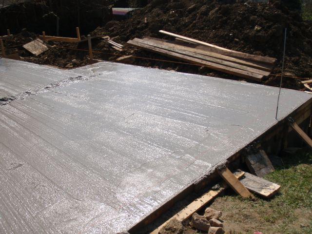 Příprava a betonování desky