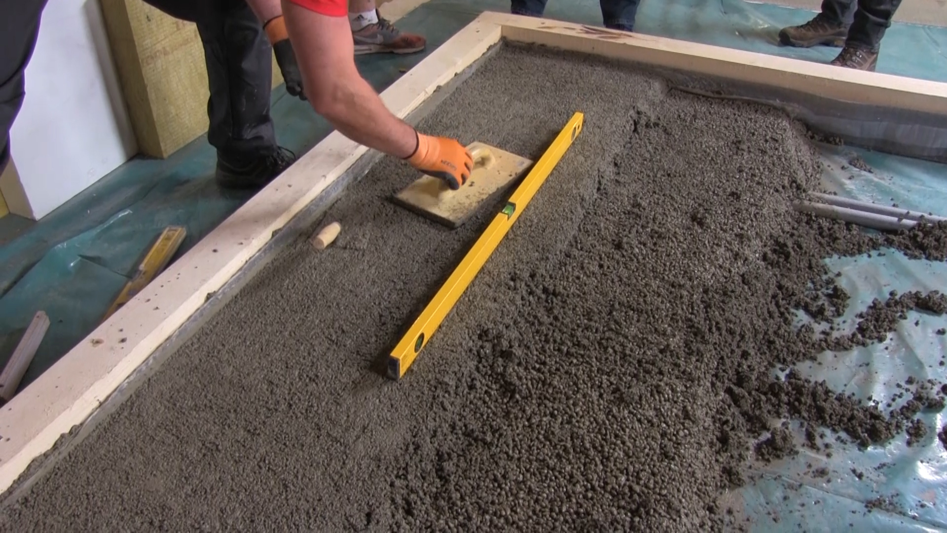 Realizace podlahy z lehkého betonu Liapor Mix