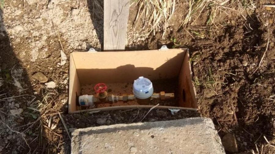 Přívod vody – montáž vodoměru na stavbu