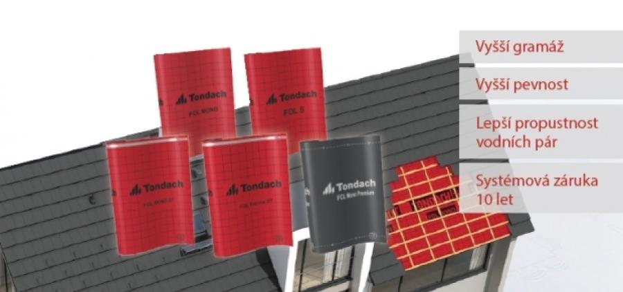 10 kroků na cestě za perfektní ochranou střechy s podstřešní fólií Tondach