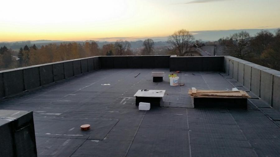 Rovná střecha - polystyrén - folie