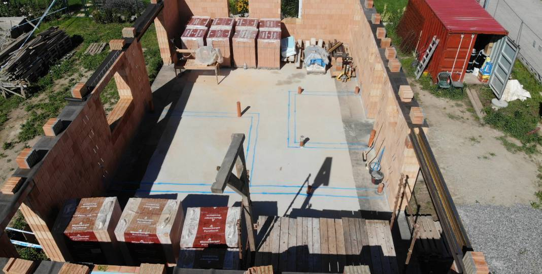 12. stavební týden – Penetrování a vnitřní nosné zdivo