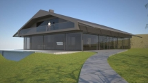 Superhaus Hranice, železo beton a sklo