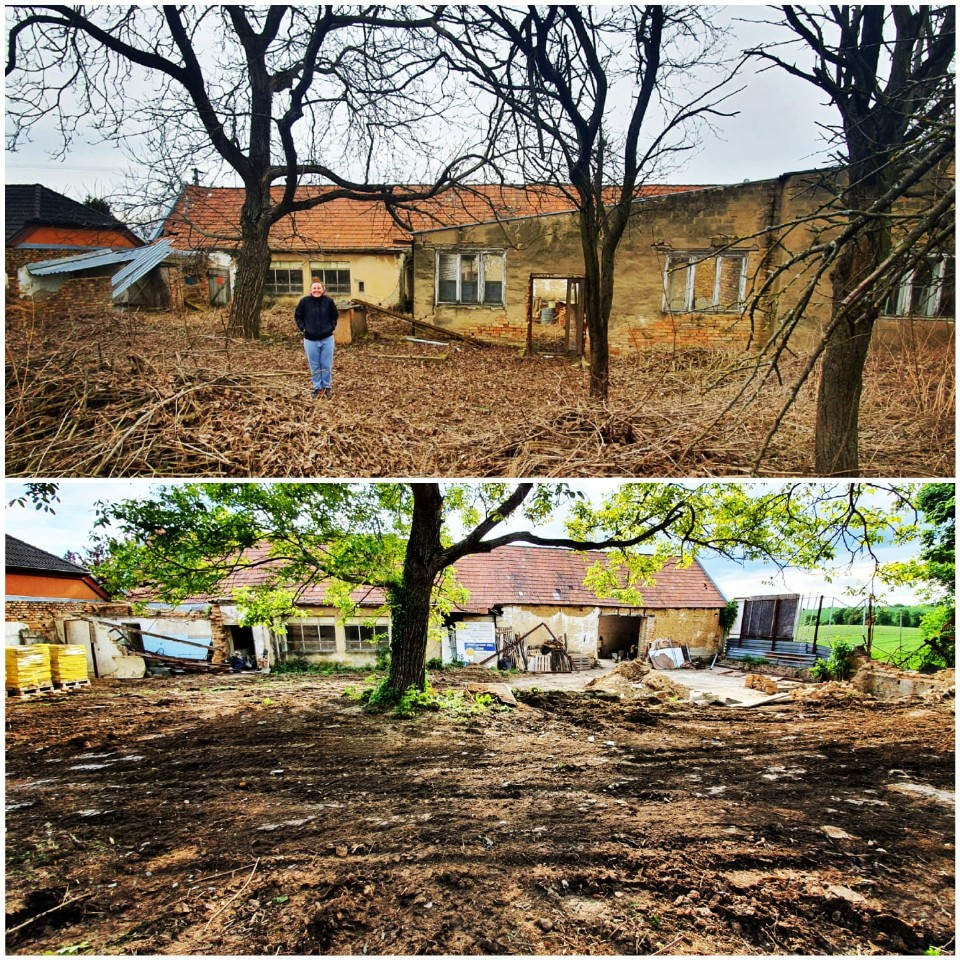 Příprava pozemku na stavbu