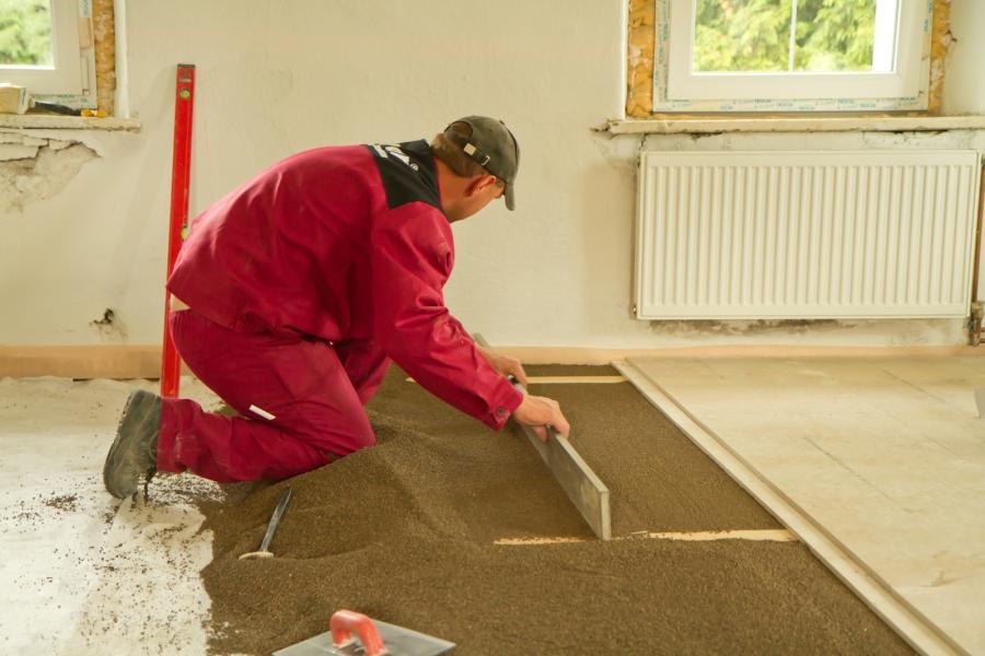 Realizace podlah suchou cestou