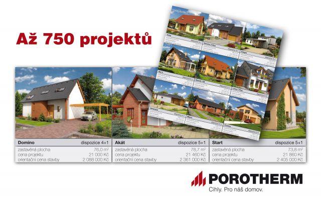Více než 700 typových rodinných domů z POROTHERMU