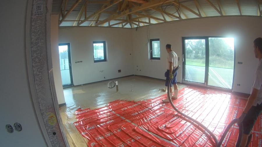 Podlahy, stropy, kanalizace & TČ s rekuperací