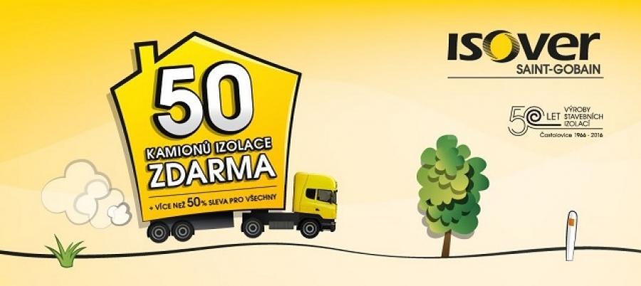 5 kamionů izolace ISOVER zdarma