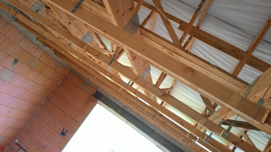 Zateplení stropu a parozábrana