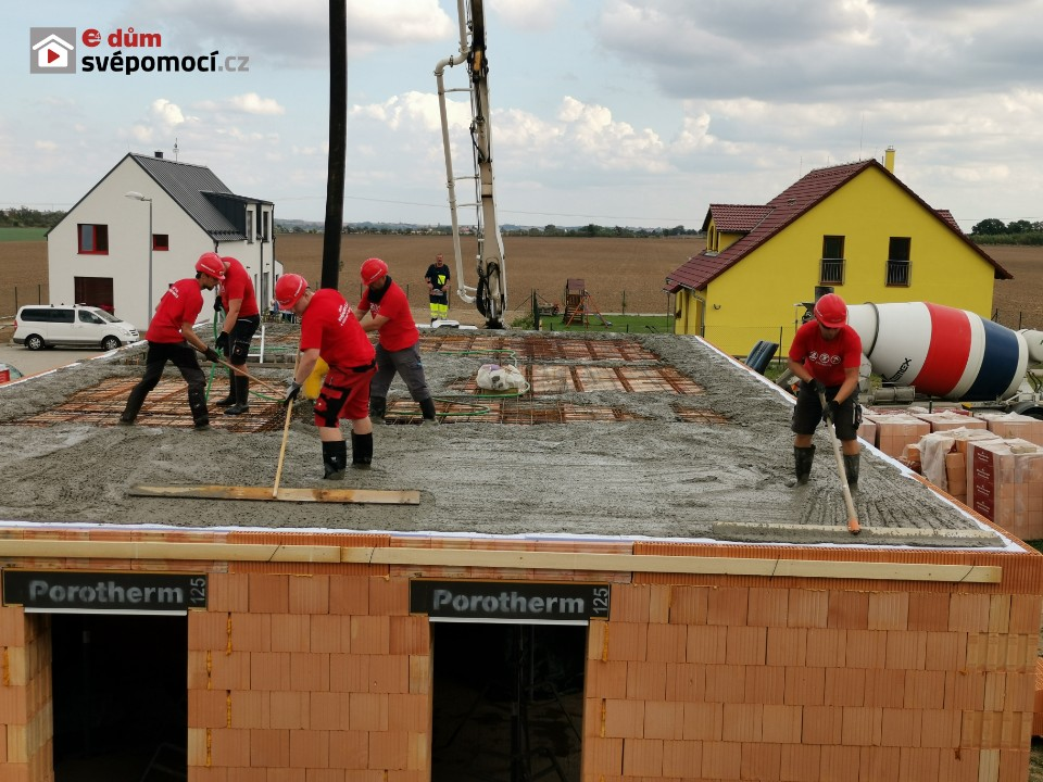 Sestavení a betonování stropu Porotherm
