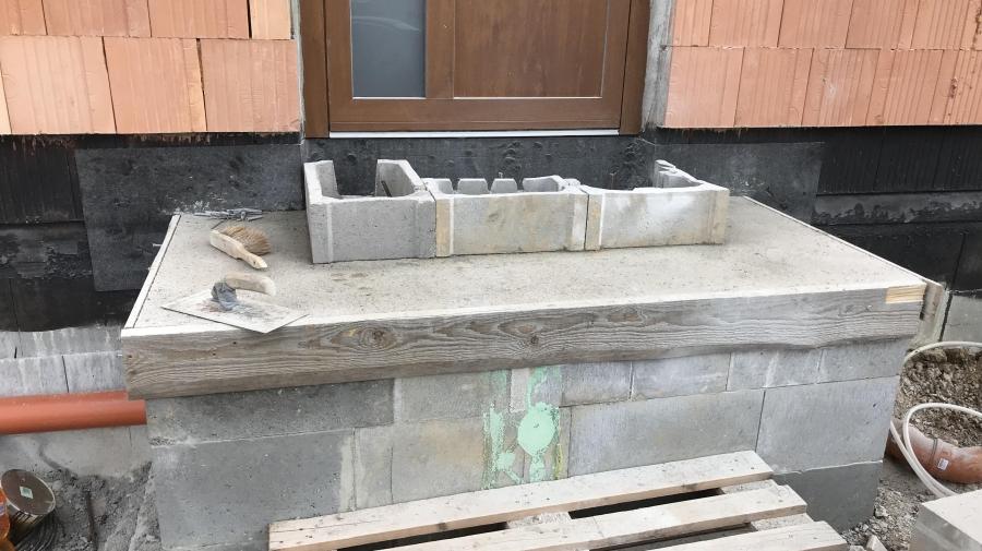 Venkovní betonové schody ze ZB - část 21.