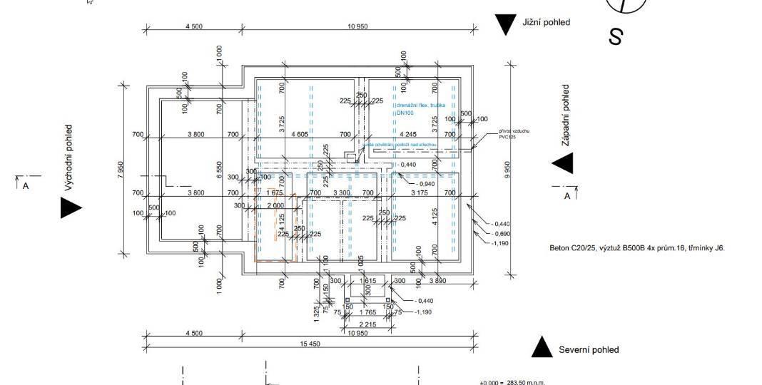 Realizace základů - podkladní beton