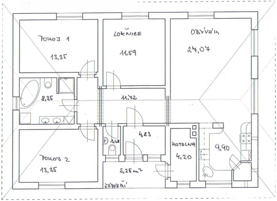 Projekt domu a studna