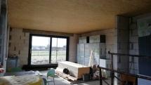 Izolace stropu, montáž OSB desek, utěsnění