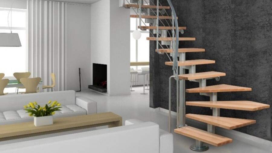 Stavebnicové schodiště svépomocí snadno a rychle