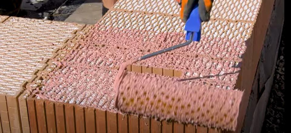 Zdění broušených cihel HELUZ na maltu HELUZ SIDI