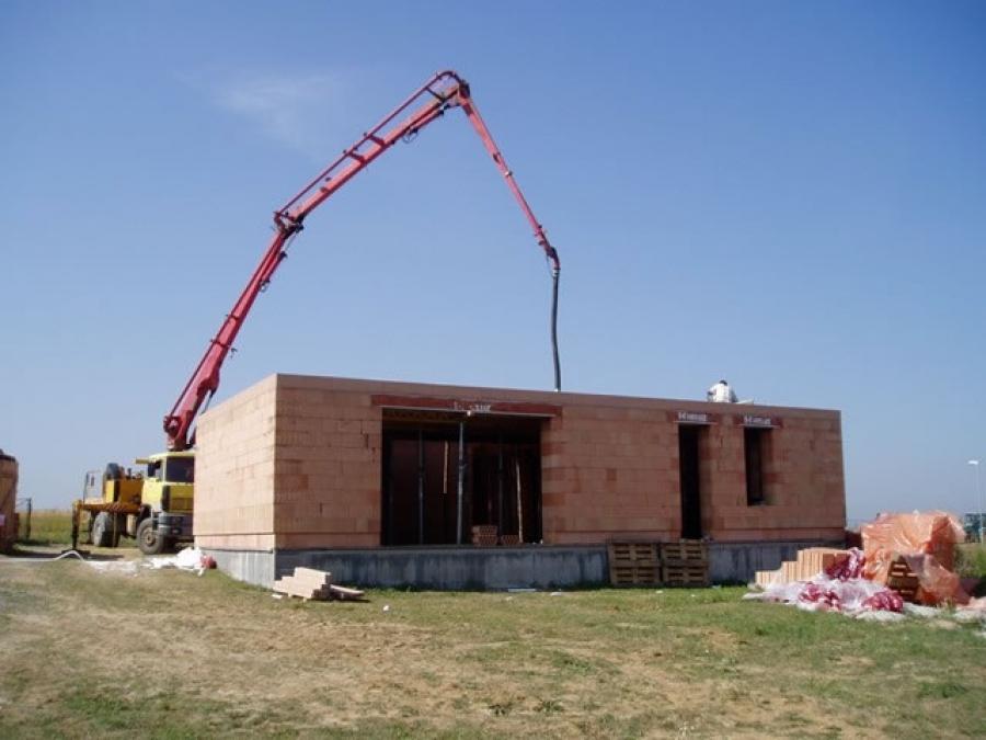 Příprava a betonování stropu
