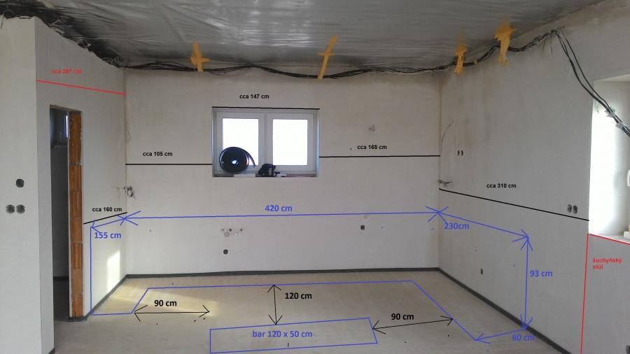 Vybavení koupelny, kuchyně a podlahy