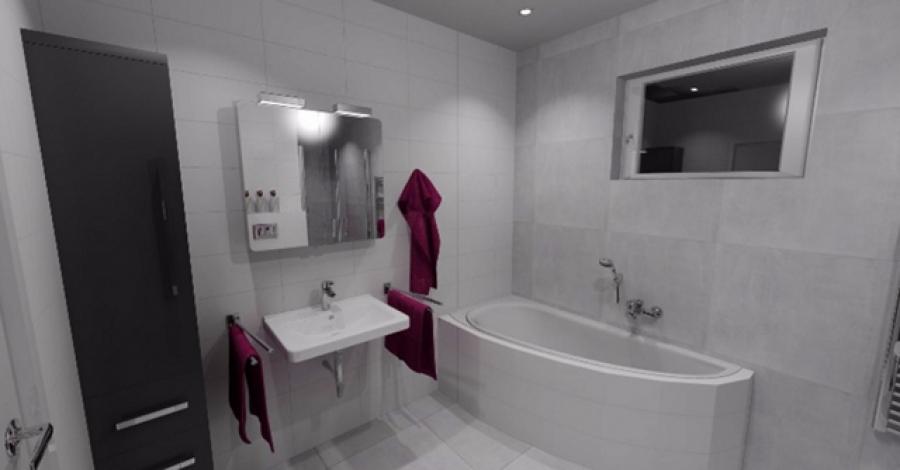 Elektrokotel, obložení koupelny, WC a technické místnosti, SDK stropy