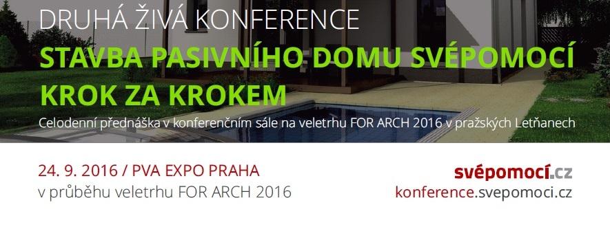 Vstupenky na FOR ARCH zdarma a další novinky ze Svépomocí.cz
