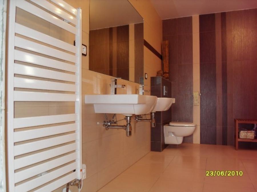 Obklady v koupelně + dlažba v celém baráku