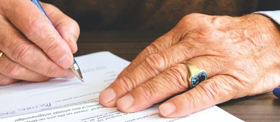 avtale og hånd