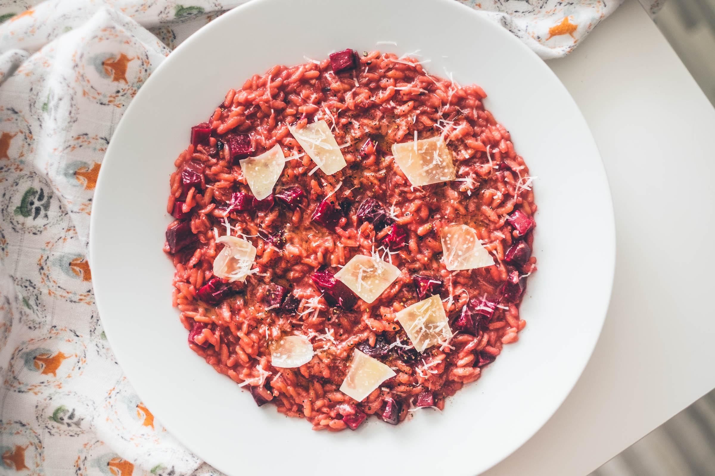 Recept na rizoto s červenou řepou