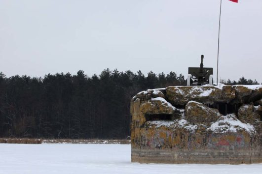 Frozen Lake and bunker - stalin defense line - sovietwonders.com