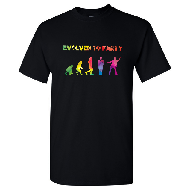 Evolved To Party T Shirt Men Black