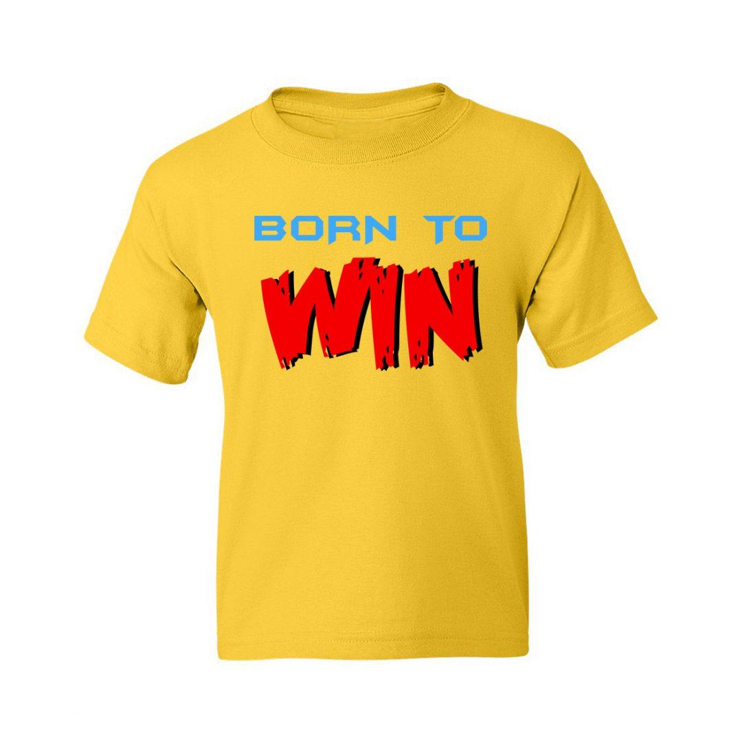 Born To Win Kids T Shirt Yellow