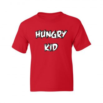 hungry kid red