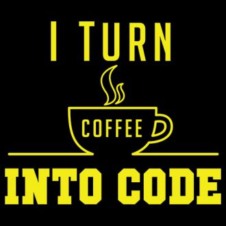 i turn coffee into code swag swami programming t shirt design