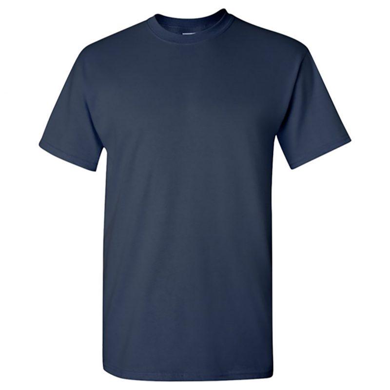 solid colour t shirt men navy