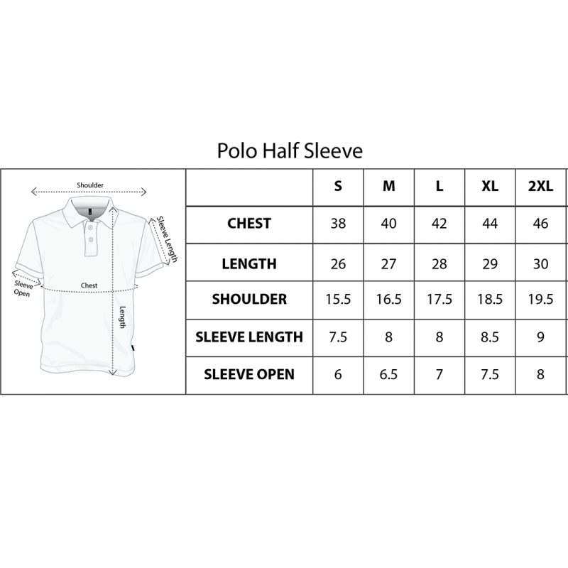 updated polo size chart square