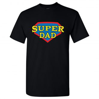 super dad perfect fathers day gift printed t shirt online india men black min