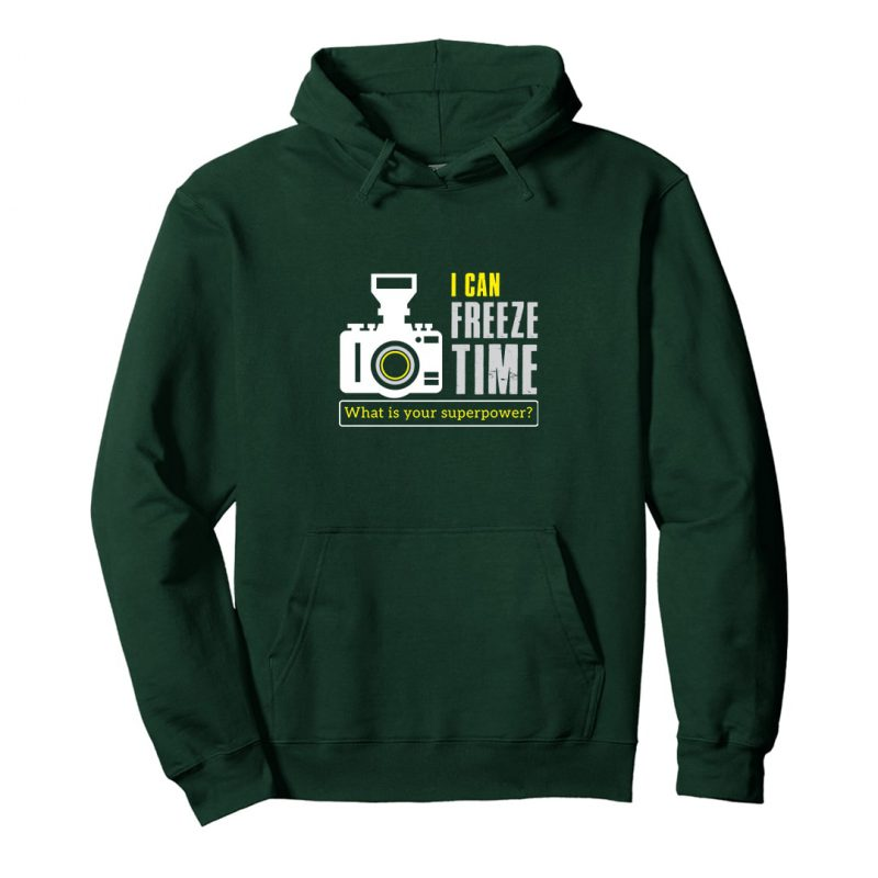 i can freeze time unisex photography hoodie india green min