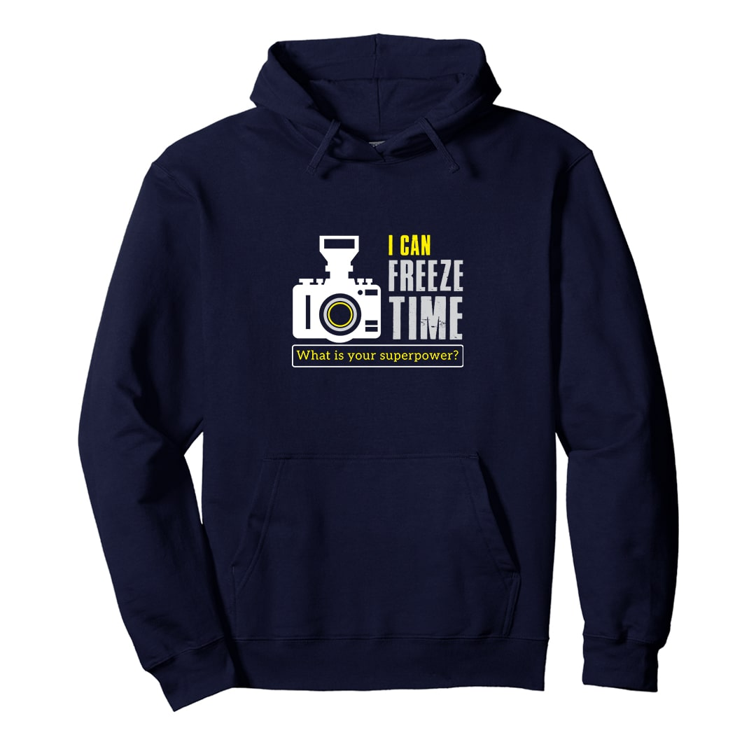 I Can Freeze Time Unisex Photography Hoodie India Navy Min