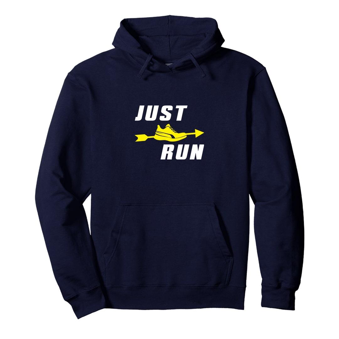 Just Run Casual Unisex Running Hoodie India Navy Min